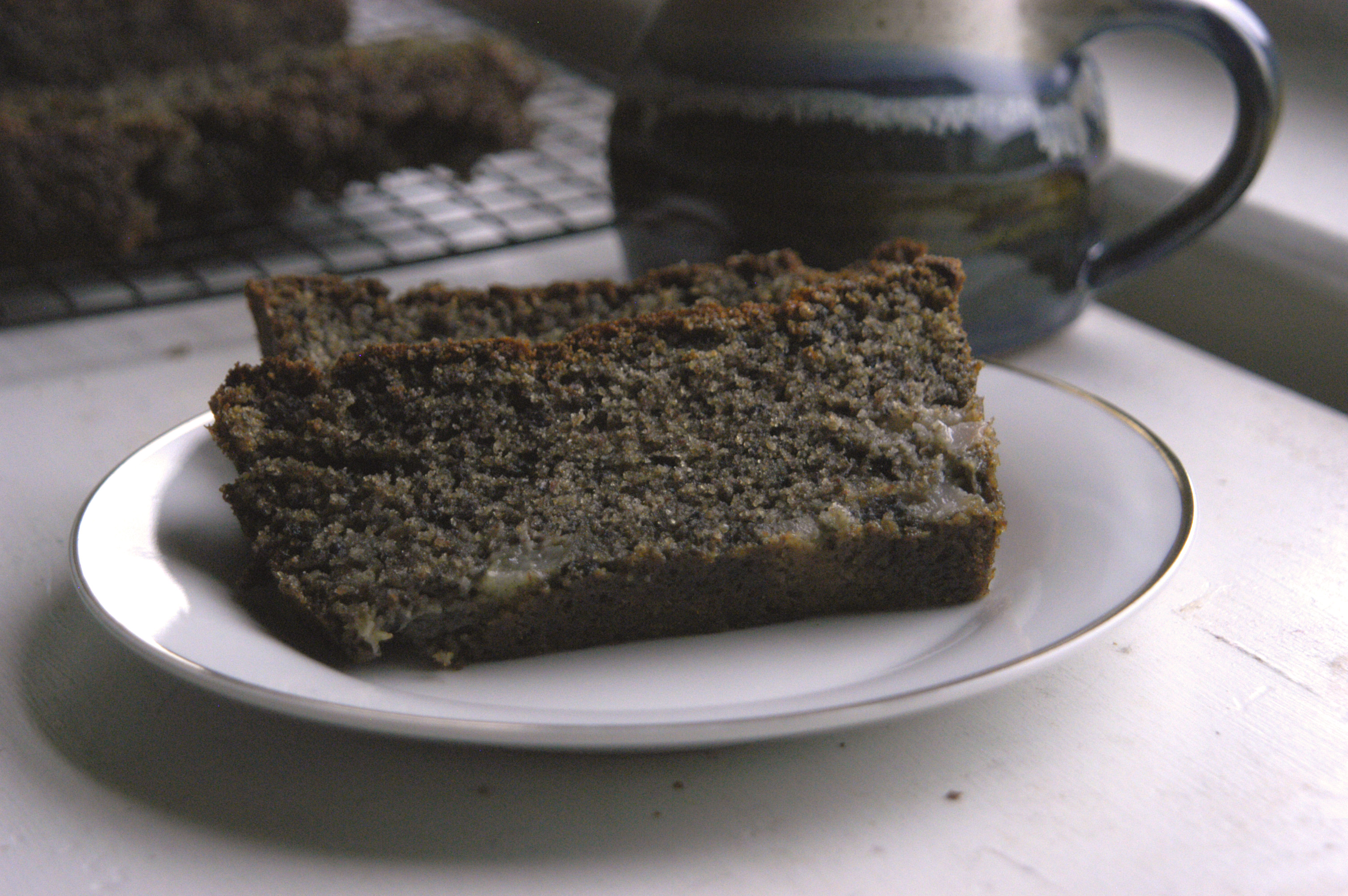 Black Sesame Pear Tea Cake - Bashful Bao